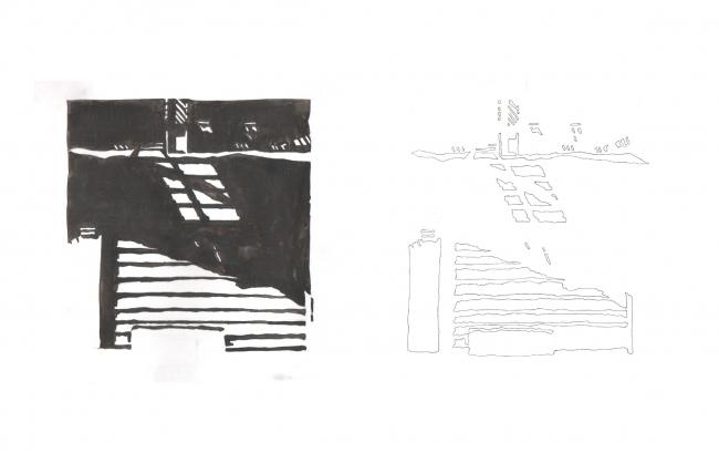 Рисунок тушью. Наблюдение за светом и тенью © из презентации Рубена Аракеляна