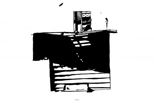 Технические навыки. Рисунок тушью. Наблюдение за светом и тенью © Дарья Котельник