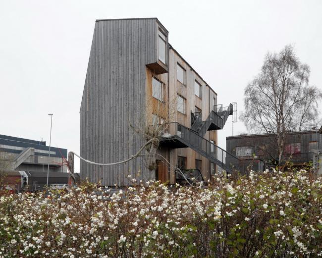 Brendeland & Kristoffersen. ЖК Svartlamoen в Тронхейме. Фото: David Grandorge