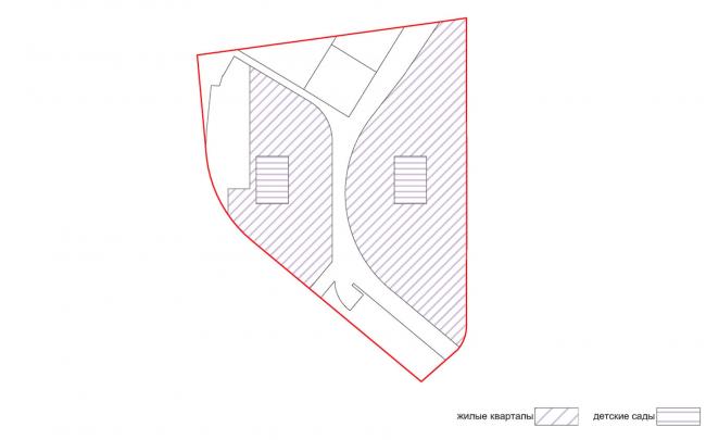 Проект застройки жилого района «Седьмое небо» в Казани. Жилая функция © Сергей Скуратов ARCHITECTS