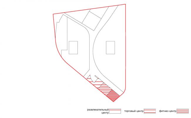 Проект застройки жилого района «Седьмое небо» в Казани. Торгово-развлекательная функция © Сергей Скуратов ARCHITECTS