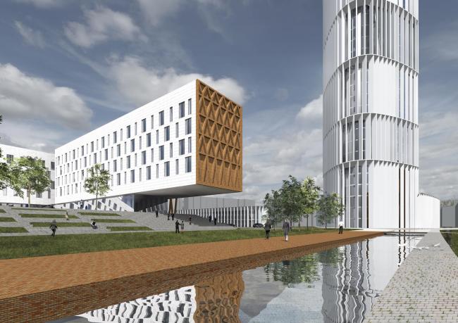 "Project of building Kazan's ""Sedmoye Nebo"" (""Seventh Heaven"") residential district © Sergey Skuratov Architects"