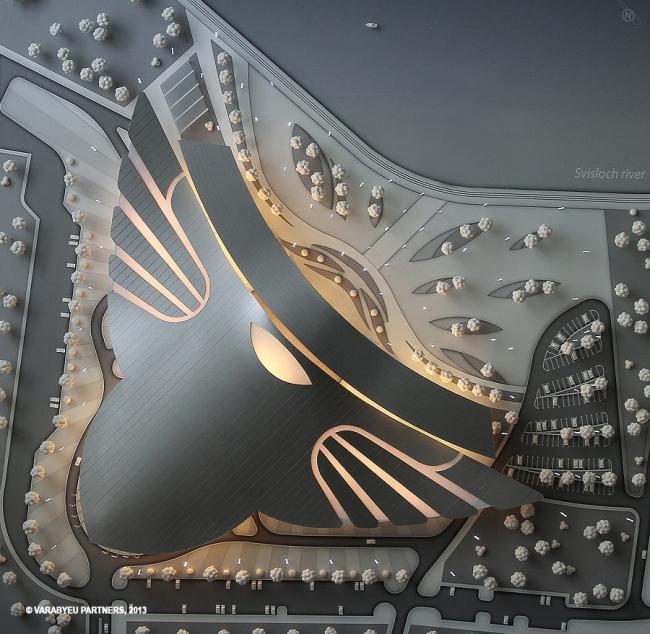 Мультифункциональный комплекс «Сокол» на проспекте Победителей в Минске © Воробьев и партнеры