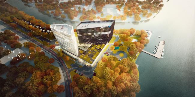 Концепция гостиничного комплекса Radisson Blue Moscow © ППФ А.Лен
