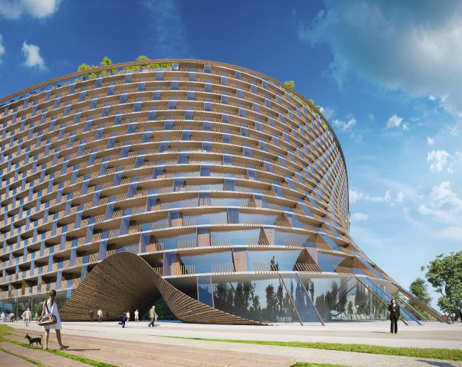 Концепция гостиничного комплекса Radisson Blue Moscow © Arch group