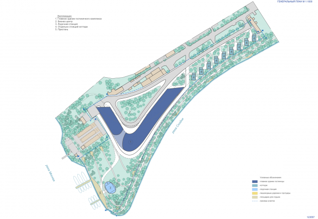 Концепция гостиничного комплекса Radisson Blue Moscow. Генеральный план © Arch group