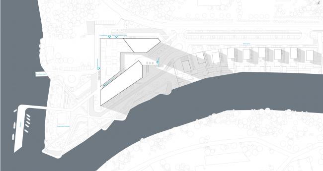Концепция гостиничного комплекса Radisson Blue Moscow. Генеральный план © ППФ А.Лен