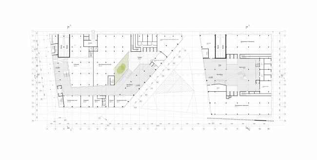 """Rusian Olympic Committee HQ. Plan of the first floor © """"Reserve"""""""