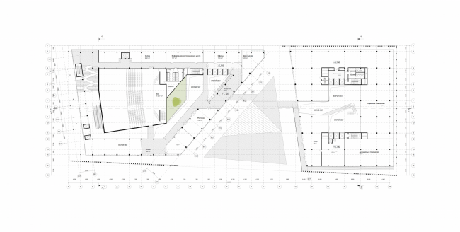 """Rusian Olympic Committee HQ. Plan of the second floor © """"Reserve"""""""