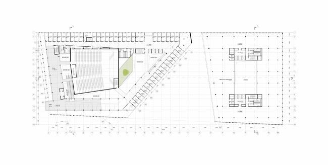 Штаб-квартира Олимпийского Комитета России. План 3 этажа © TПО «Резерв»