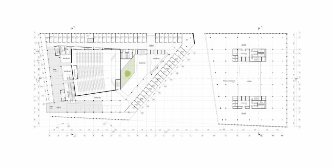 "Rusian Olympic Committee HQ. Plan of the third floor © ""Reserve"""