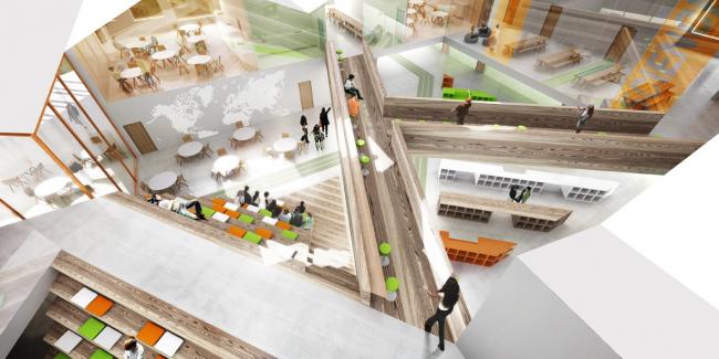 Проект «Умной школы». Внутренние переходы © UNK project