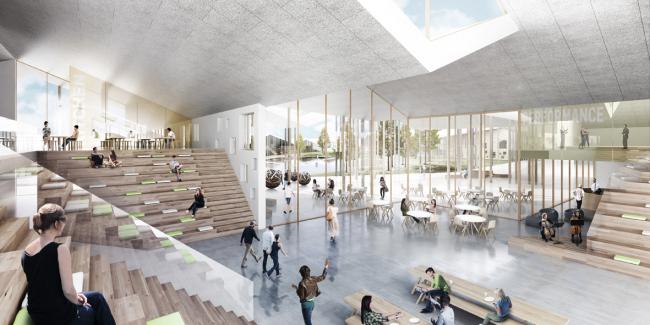 Проект «Умной школы». Центральный холл © UNK project