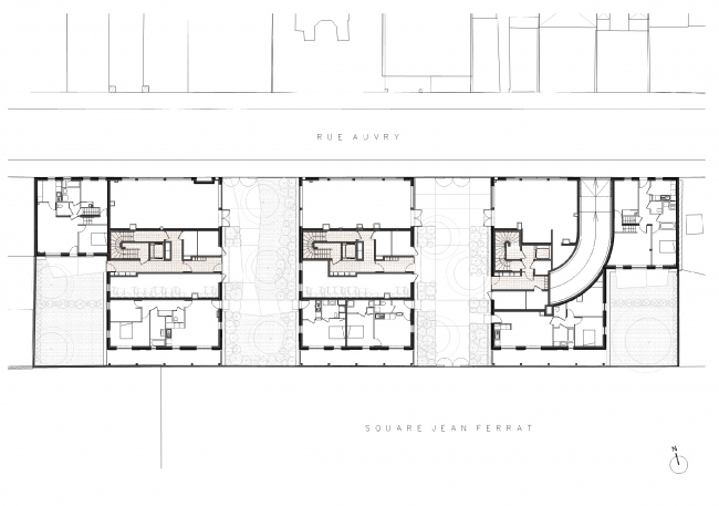 Жилой комплекс на улице Оври © Tectône
