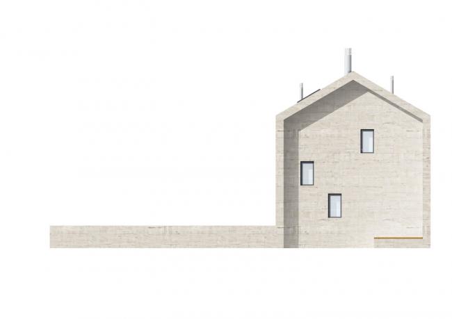 Жилой квартал инновационного центра «Сколково». Фасад частного дома © Сергей Скуратов ARCHITECTS