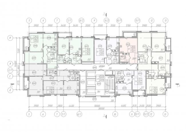 Жилой дом «Клевер». План 20-25 этажей © Архитектурное бюро «А.Лен»