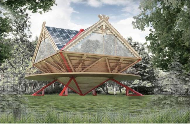 Проект «Эко-Изба». Автор проекта – ведущий архитектор ООО «ИКСПИ_ГРУПП» Прохорова Дарья