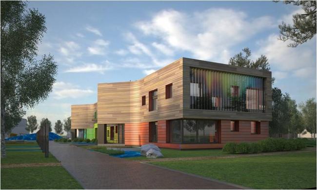 Детский сад нового типа на 220 детей по адресу: ХМАО-Югра, г. Белоярский. Автор проекта – архитектор Антон Лукомский, компания «Сити-Арх»