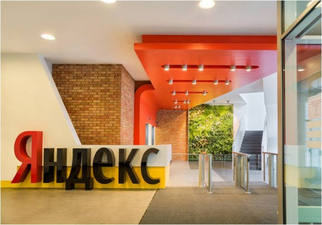 Интерьер штаб-квартиры компании «Яндекс» © АБ «Атриум»
