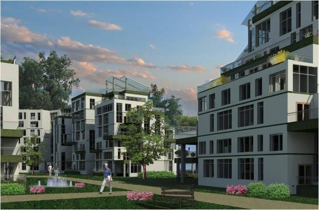 Проект «Жилой мультикомфортный дом Green Plaza». Автор проекта – студентка Казанского государственного архитектурно-строительного университета Анастасия Самойленко