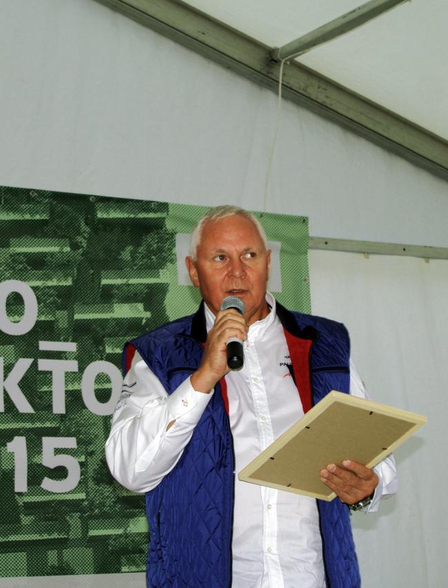 Церемония награждения победителей конкурса «Эко_тектоника». Представитель РЖД. Фотография Аллы Павликовой