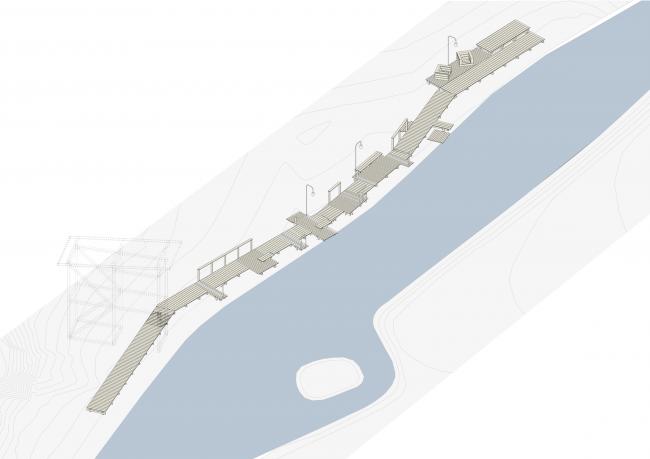 Зона рыбалки. Общий вид. Городская ферма на ВДНХ. 1 очередь, проект © WOWhaus