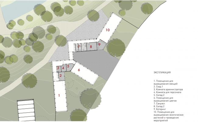 План оранжереи. Городская ферма на ВДНХ. 2 очередь, проект © WOWhaus