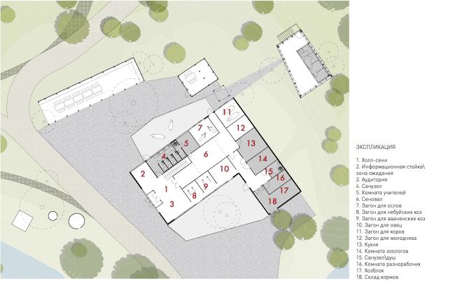 Urban farm at VDNKh, plan of the farm © WOWhaus