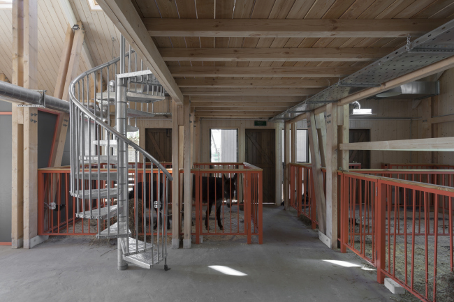 Cow-shed. House for master classes. Urban farm at VDNKh, 1st phase. WOWhaus Bureau. Photograph © Dmitry Chebanenko