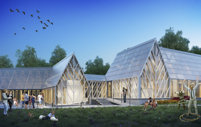 Conservatory. Urban farm at VDNKh, 2nd phase, project © WOWhaus