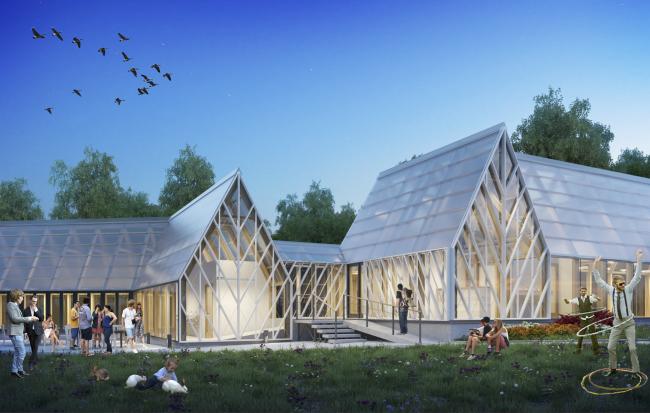 Оранжерея. Городская ферма на ВДНХ. 2 очередь, проект © WOWhaus