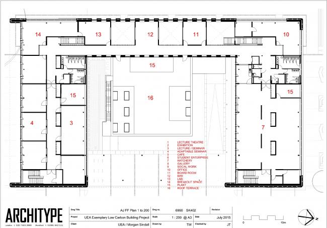 Центр предпринимательства Университета Восточной Англии © Architype