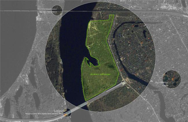Жилой комплекс в урочище Горбачиха. Ситуационный план © Архиматика