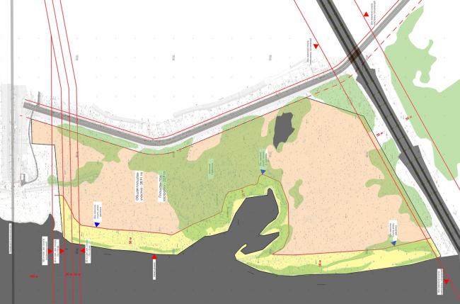 Жилой комплекс в урочище Горбачиха. Схема озеленения © Архиматика