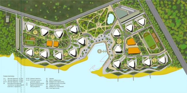 Жилой комплекс в урочище Горбачиха. Генеральный план © Архиматика