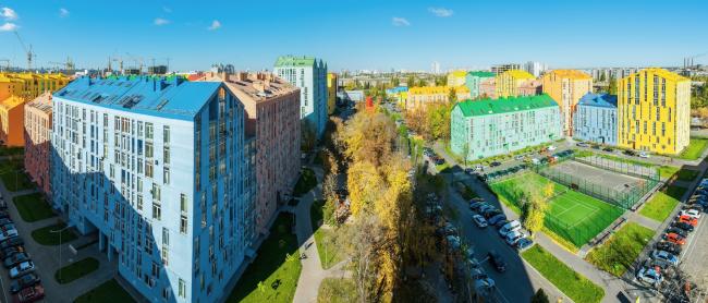 Жилой квартал «Комфорт-таун». Постройка, 2015 © Архиматика