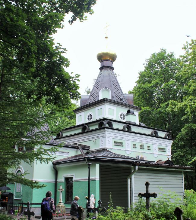 Часовня Святой Ксении Блаженной на Смоленском кладбище в Петербурге. Фотография предоставлена компанией «Славдом»