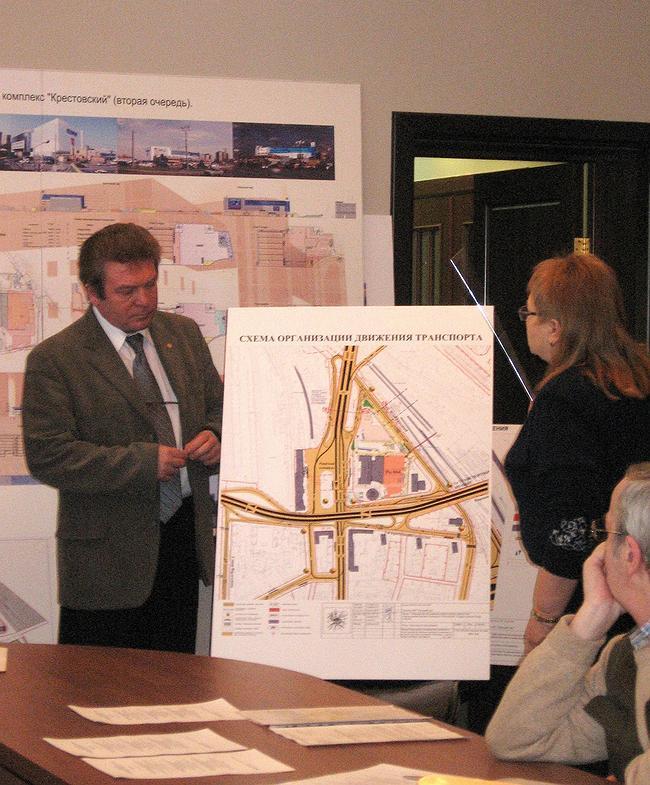 Предпроектное предложение строительства торгово-административного комплекса «Крестовский» (вторая очередь). Транспортная схема