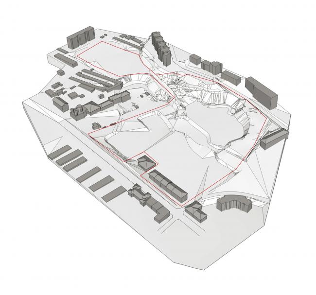 Жилой комплекс «Семицвет». Ситуационный план. Схема © Архиматика