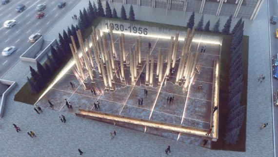 Монумент жертвам политических репрессий. Проект Юлия Борисова, UNK Project. Изображение с сайта novayagazeta.ru