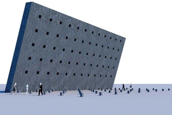 Монумент жертвам политических репрессий. Проект Дмитрия Ляшенко. Изображение с сайта novayagazeta.ru