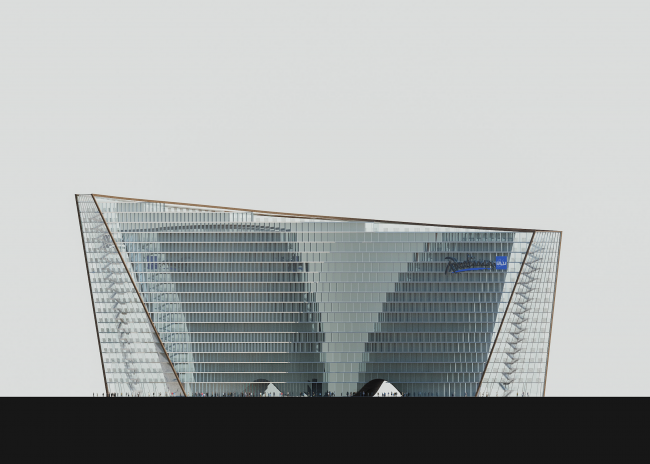 Radisson Blue hotel complex at the place of the confluence of the Moskva and Skhodnya rivers. Facade © Arch group