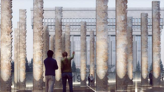 Мемориал жертвам политических репрессий на проспекте Сахарова, конкурсный проект © UNK project