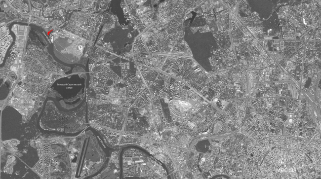 Конкурсный проект гостиничного комплекса Radisson Blu Moscow Riverside Hotel&SPA. Ситуационный план © Архитектурная мастерская «А.Лен»