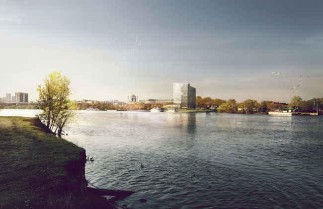 "Contest project of Radisson Blu Moscow Riverside Hotel&SPA © ""A.Len"" architectural studio"