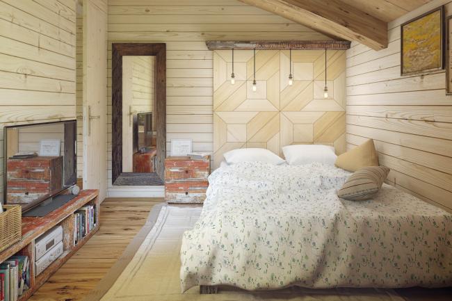 Hobbit Hall residence. Interior of the bedrooms © Roman Leonidov Architectural Bureau