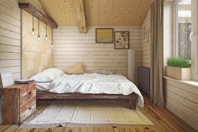 Жилой дом Hobbit Hall. Интерьер спальных комнат © Архитектурное бюро Романа Леонидова