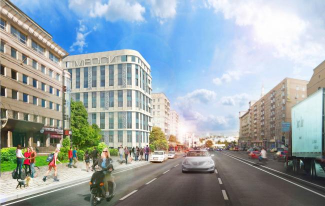 Архитектурное решение фасадов клинико-диагностического центра. Концепция © ГранПроектСити