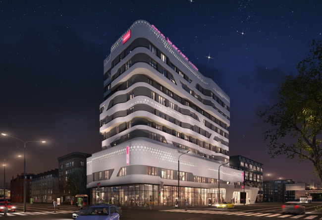 """Mercure Hotel. Project. The second version of backlighting from """"Martin Light"""""""
