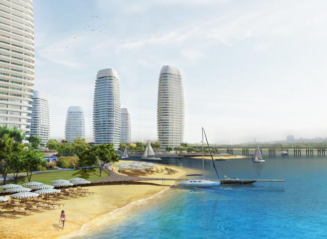 Жилой комплекс в урочище Горбачиха. Пляж © Архиматика